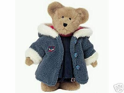 Boyds Bears Plush * Karina Burrbruin *  Christmas blu Coat Nuovo Large Bear