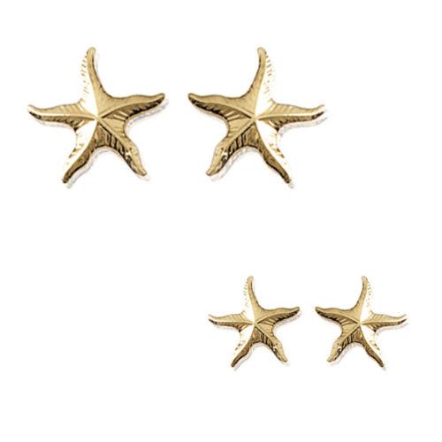 Paire de Boucles d/'oreilles étoile de Mer Plaqué Or 18 carats