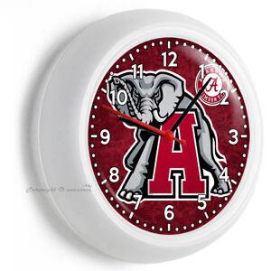 Image Is Loading Alabama Crimson Tide Football Team Wall Clock Kitchen