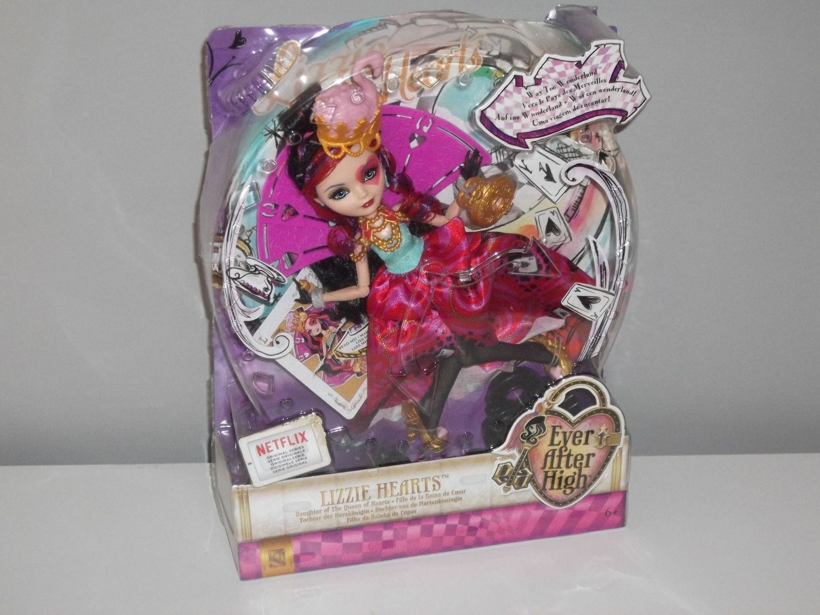BAMBOLA EVER AFTER HIGH WAY TOO WONDERLAND WONDERLAND WONDERLAND NEW NEVER OPENED LIZZIE HEARTS d64f1e