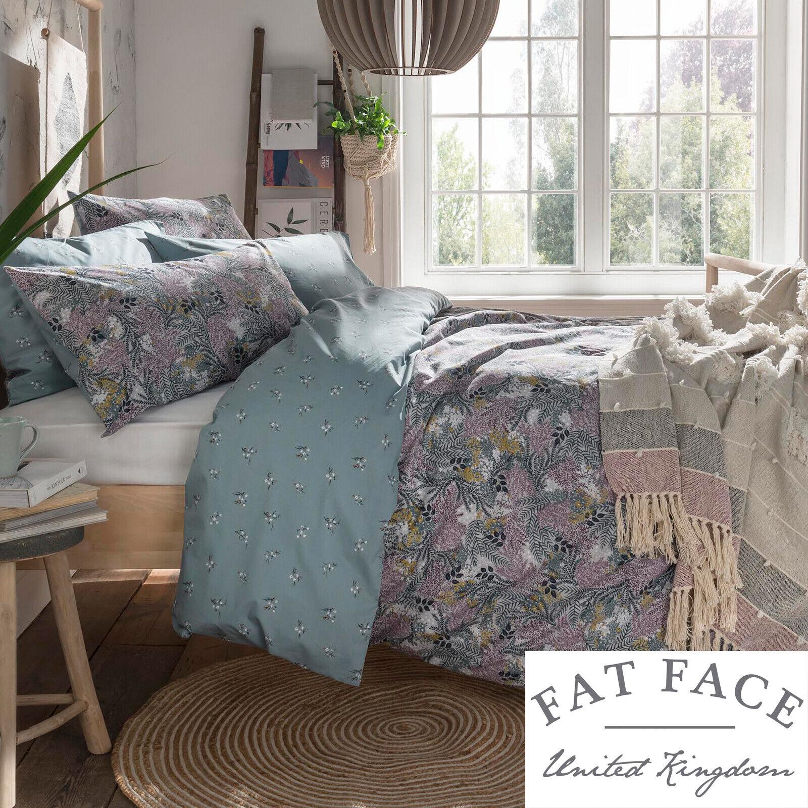 Fat Face Designer Bedding WINTER FERNS Floral 100% Cotton Duvet Quilt Cover Set