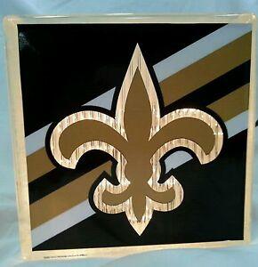 Lighted New Orleans Saints Glass Block Light~ Home Decor~Gift~Lamp