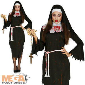 Zombie-Nun-Ladies-Fancy-Dress-Religious-Womens-Adults-Halloween-Costume-Outfit