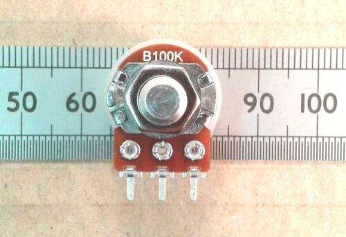 "Mono B Pot RSP63 6.3mm 0.25/"" Round Shaft PCB Pins 16mm Linear Potentiometer"