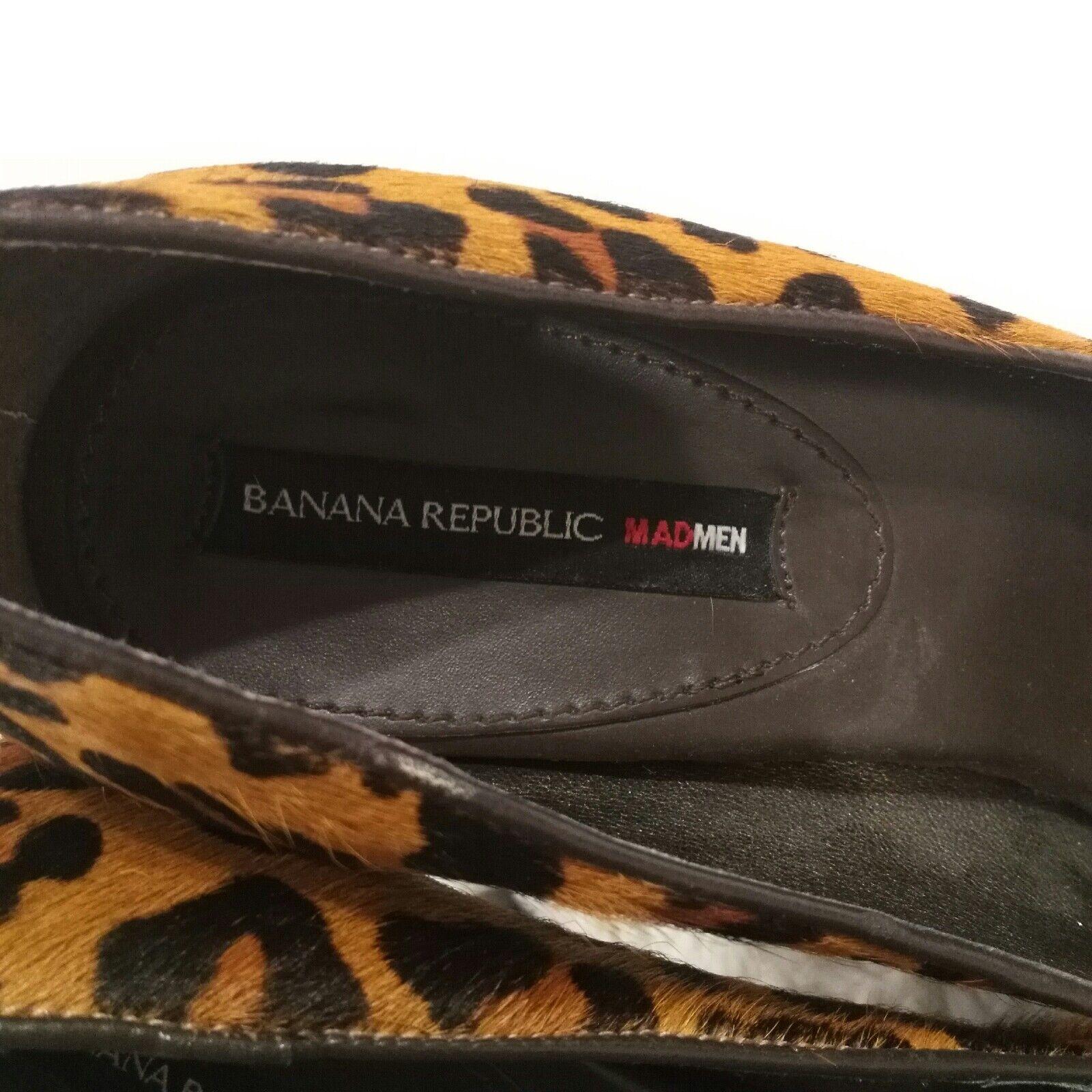 Banana Republic Leopard Print Heels Cow Hair Pumps Heels Print Größe 7.5 Animal Print mad men 4166c3