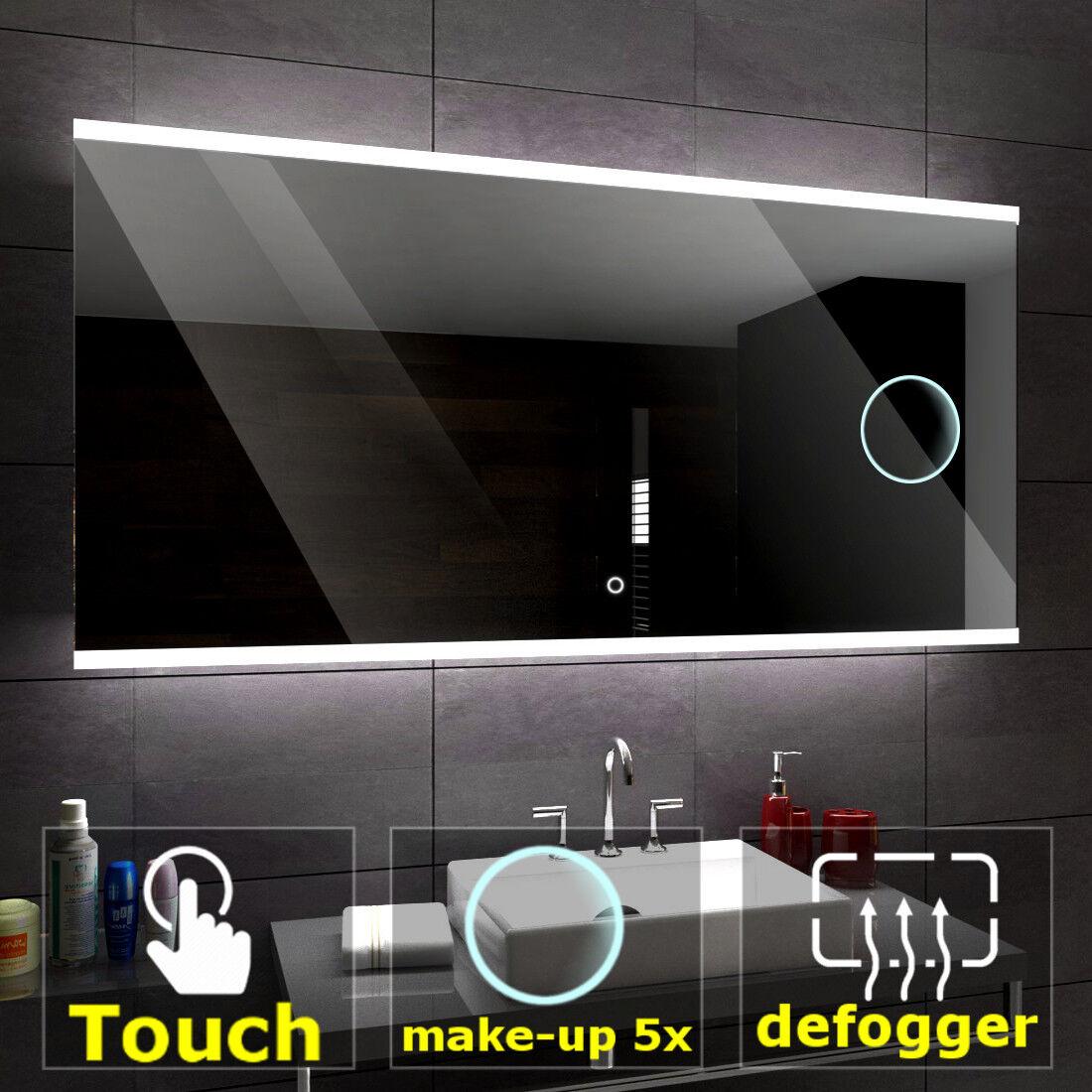 BRASIL Led Badspiegel Wandspiegel Touch Sensor SchminkSpiegel Heizmatte A05