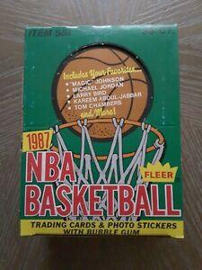 1987-88 Fleer Basketball Wax Box 36 Packs