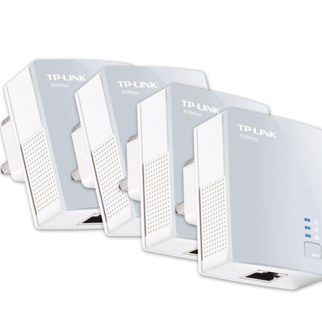 TP Link TL PA411 AV500 Nano Powerline Ethernet Gaming adapter Home Plug X 4 UK