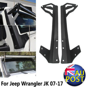 52-034-Straight-LED-Light-Bar-Mount-Brackets-For-07-17-Jeep-Wrangler-JK