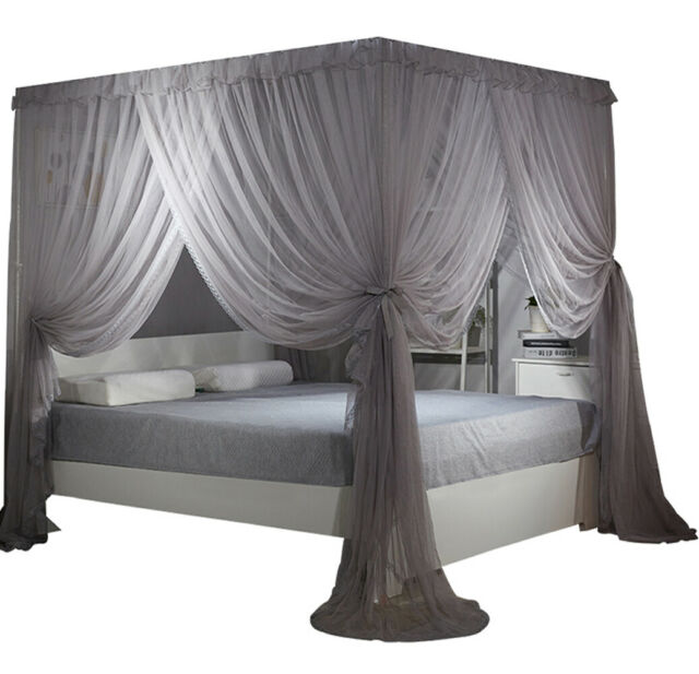 Bed Curtain Canopy Mosquito Netting, Queen Size Canopy Bed With Curtains