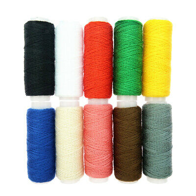 10 Spools 20S//3 Denim Line Cord Household Shoes Bag Leather Jeans Sewing Thread