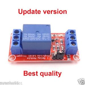 5V-12V-24V-10A-1-Channel-Relay-Module-Optocoupler-H-L-Level-Triger-for-Arduino