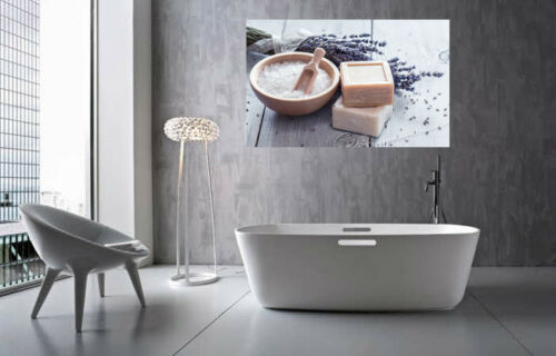 Rustic Bathroom Spa Art Soap Lavender Canvas Wall Art Picture Print