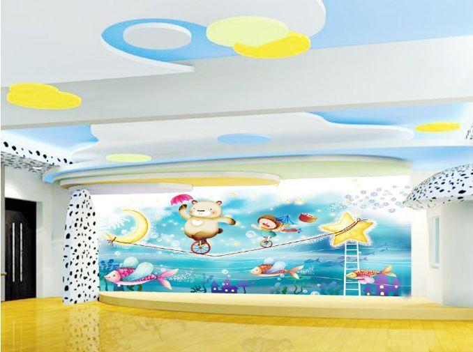 3D Akrobatische Bär 01988  Fototapeten Wandbild Fototapete BildTapete Familie DE