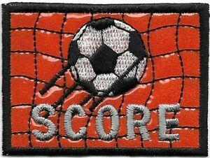 Orange Football Objectif Score Patch Brodé