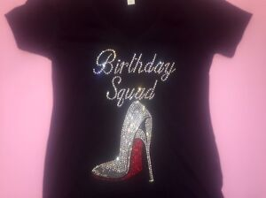 Image Is Loading Birthday Squad Red High Heel Shirt Womens 21st