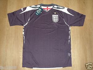 England-2007-2009-Goalkeeper-Football-Shirt-Goalie-Top-Jersey-Umbro-Navy-New