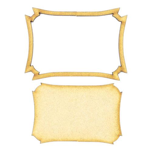 Cadre et panneau 37-En Bois 3 mm MDF Laser Cut Craft Blanc Scrapbook Topper