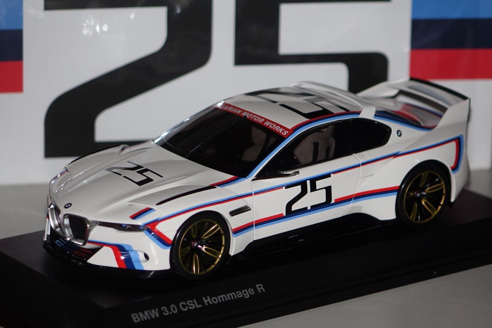 BMW 3,0 CSL R Hommage Blanc  25 1 18 BMW 80432454782 NEUF + neuf dans sa boîte