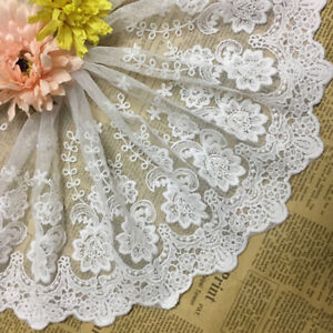 Flower-Floral-Lace-Trim-Embroidery-Tulle-Scalloped-Lace-Trim-8-66-Inch-1Yards