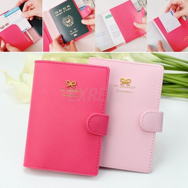 New Travel Utility Simple Passport Cover Holder Case Protector Skin PVC