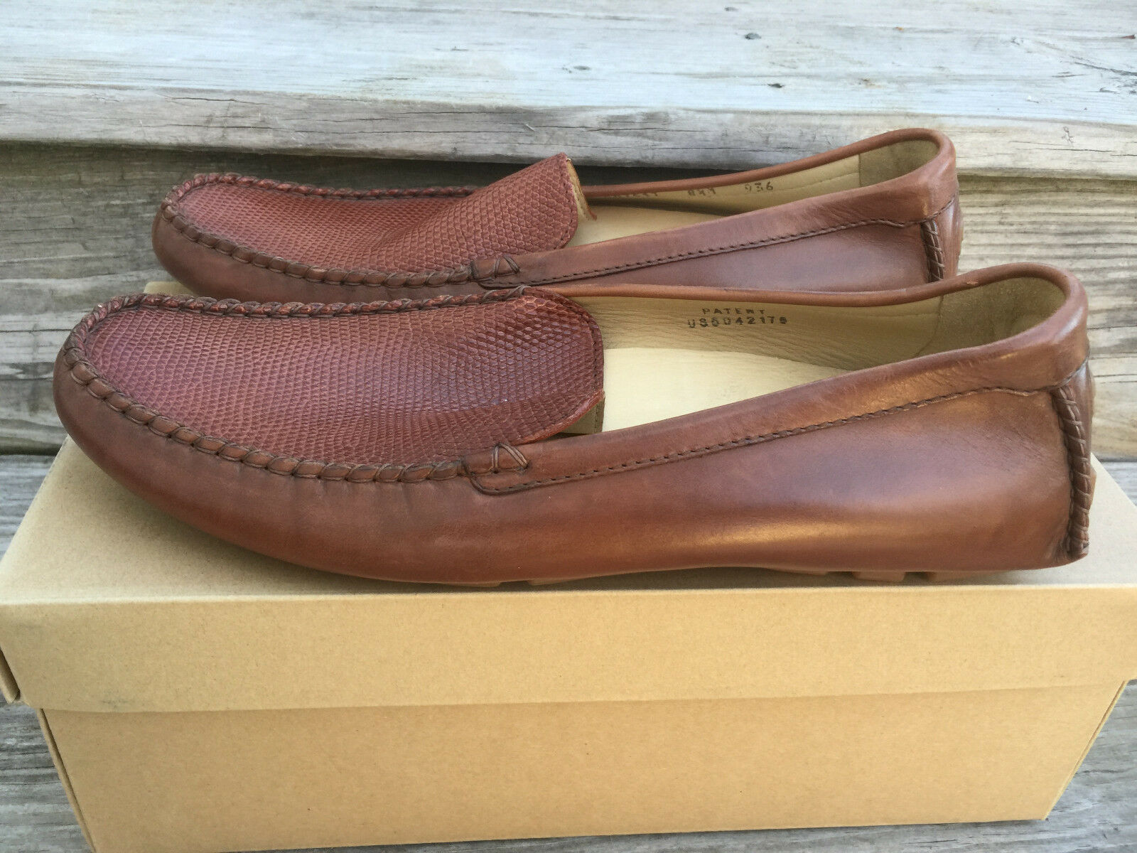 New Cole Haan Exotics Lizard Loafer Brown size 8.5 M C07517 Casual Rare