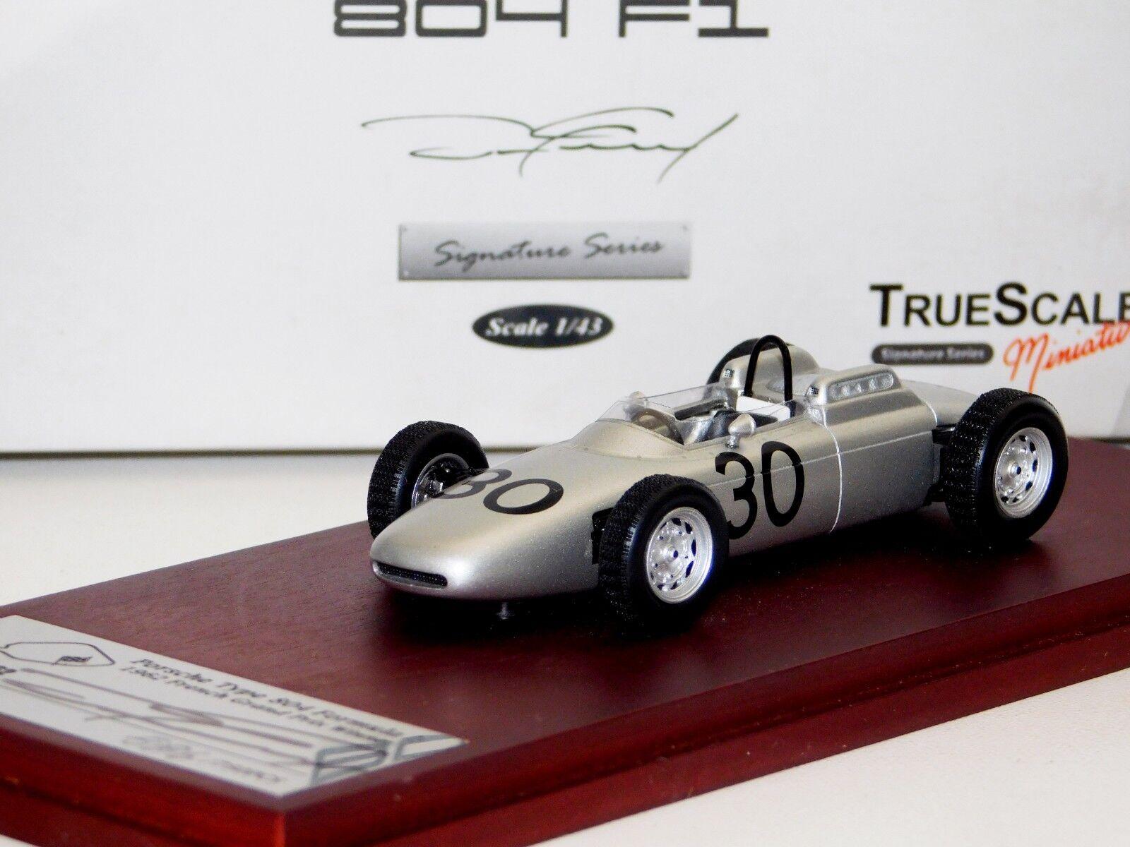 PORSCHE 804 F1  30 WINNER FRENCH GP 1962 SIGNED by GURNEY LIM. TRUESCALE  1:43