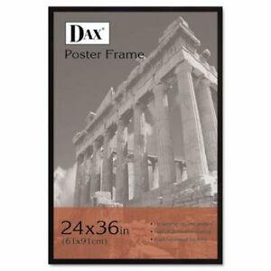 DAX-Plat-a-Bois-Poster-Cadre-avec-Plexiglas-Fenetre-24-x-36-noir-DAX286036X