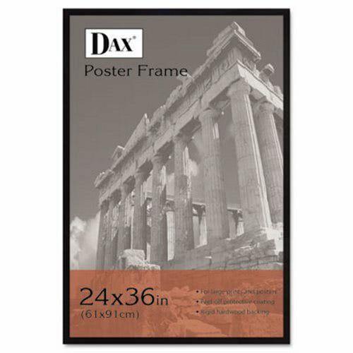 Dax Flat Face Wood Poster Frame w/Plexiglas Window, 24 x 36, Black (DAX286036X)