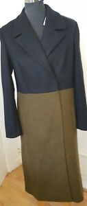 Mix £ Black Uk Womens s 7 Rrp Coat 10 89 Khaki M Wool qwW1tFvxOW