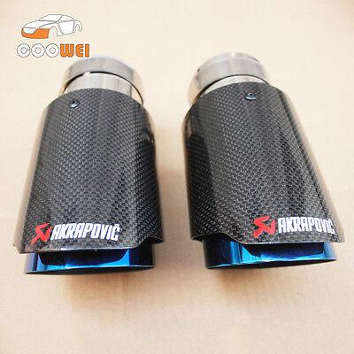 1 PCS Akrapovic Glossy Carbon Fiber Exhaust tip 63-89mm Universal Exhaust Pipe
