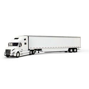 First-Gear-50-3394-Volvo-VNL-760-Sleeper-w-53-039-Trailer-White-1-50-Die-cast-MIB