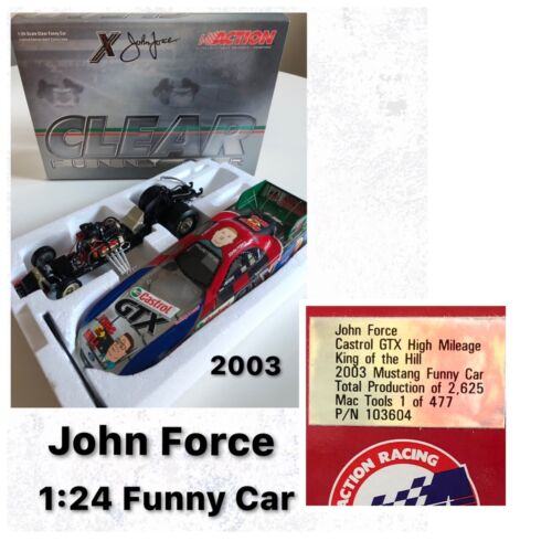 2003 John Force Castrol GTX High Mileage King of the Hill Funny Car 1:24