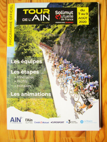Roadbook de l/'Ain 2020 cyclisme vélo Tour de France collection musette programme