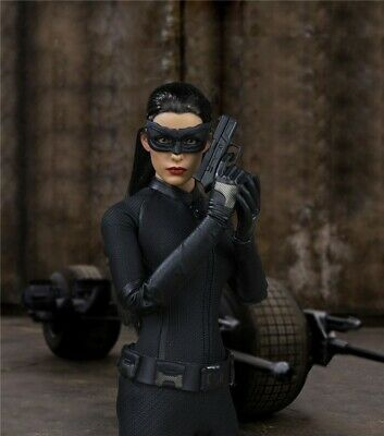 1//6 Catwoman Anne Hathaway Head Sculpt+Clothing Sets for Hot Toys PH Medium Bust