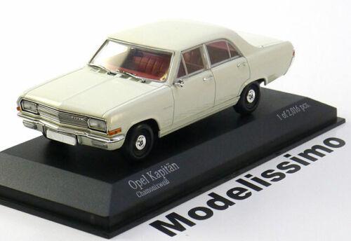 1:43 Minichamps Opel Kapitän A 1964 white