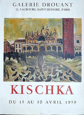 CoöPeratieve Kischka Affiche Lithographie Galerie Drouant Peinture Venise 1959 Mourlot Gematigde Kosten