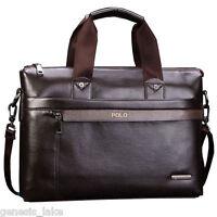 POLO Briefcase Laptop Bag Men Leather Business Messenger Shoulder Bags
