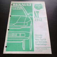Werkstatthandbuch Renault Clio I C579 mit Motor F3P & Mehrpunkt-Einspritzanlage