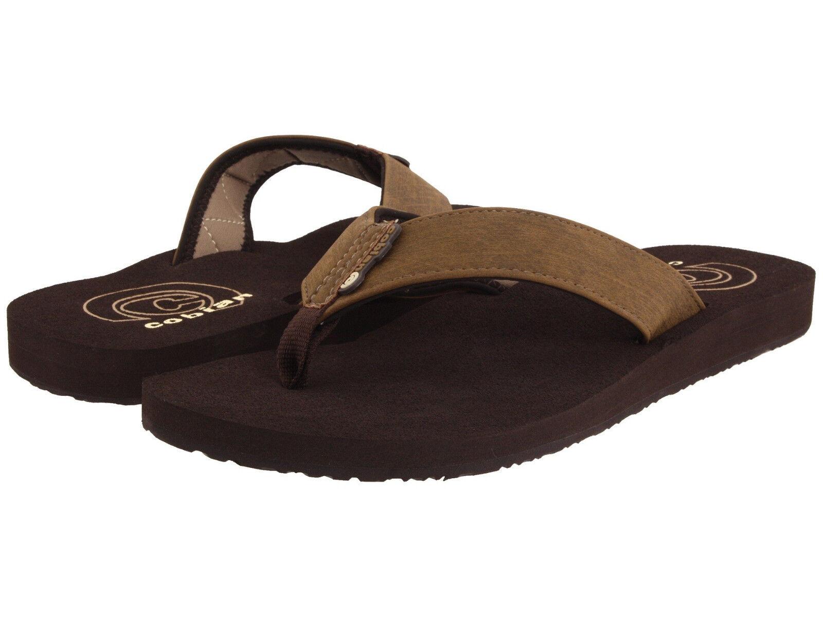 Men Cobian Floater Flip Flop Sandal FLT 08-203 Mocha 100% Authentic Brand New