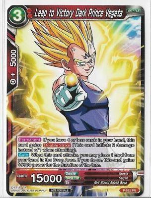 Dragon Ball Super Card Vegeta Furious Awakening Holo Leader Card P 163 PR Mint