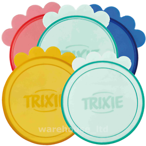 Trixie-Plastic-Dog-Cat-Pet-Can-Lid-Covers-Keeps-Tinned-Food-Fresh-7-6cm-amp-10-6cm