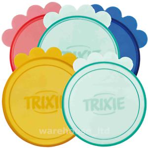 Trixie-Plastic-Dog-Cat-Pet-Can-Lid-Covers-Keeps-Tinned-Food-Fresh-7-6cm-amp-10-6cm