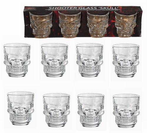 8er Set Shooter Gläser Shootergläser Schnapsgläser 4cl SKULLTotenkopf Design NEU