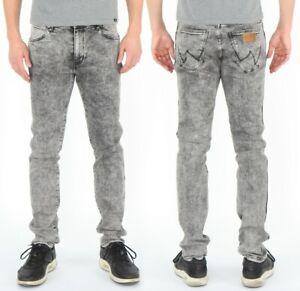 Wrangler-Herren-Jeans-Hose-Larston-Flake-Grau-W27-W36