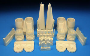 Barracuda 1/72 Rockwell B-1B Lancer Late Exhaust & Rear Nacelle Set for Monogram