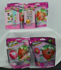 Shopkins-Color-Twist-Bath-Bomb-Lip-Balm-Press-on-Nails-Stocking-Stuffer-Lot
