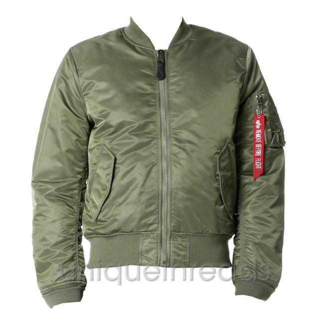 1e9b4f3b9 ALPHA INDUSTRIES - Men's Slim Fit MA-1 Flight Bomber Jacket - Sage Green