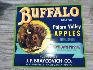 APPLETON c1920/'s apple Crate Label WATSONVILLE CALIFORNIA early OLSEN Litho.S.F.