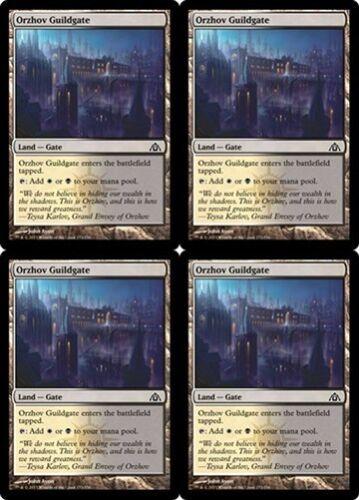 4x ORZHOV GUILDGATE Dragon/'s Maze MTG Land—Gate Com